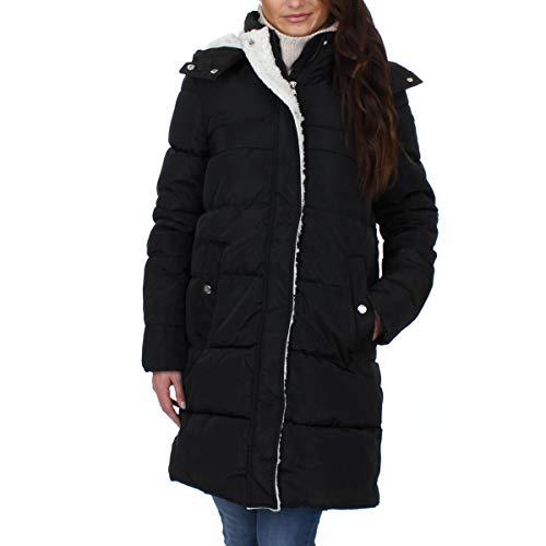 Steve Madden Women's Faux Down Puffer Jacket, Full Closure Black, M ()