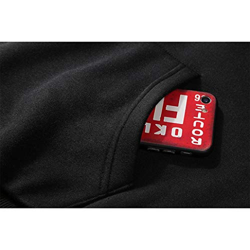 Blouse 1 À Adeshop Couleur Manches Automne Pure Mode Chemisier Impression Top Sweat Hommes Sweats Casual Tops Vêtements Lâche Sportswear Grande Longues Taille Noir shirts Capuche qXAwSBXn