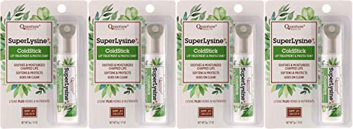 Quantum Health Lysine+ Coldstick, SPF 21, 0.17 Ounces each (Pack of 4)