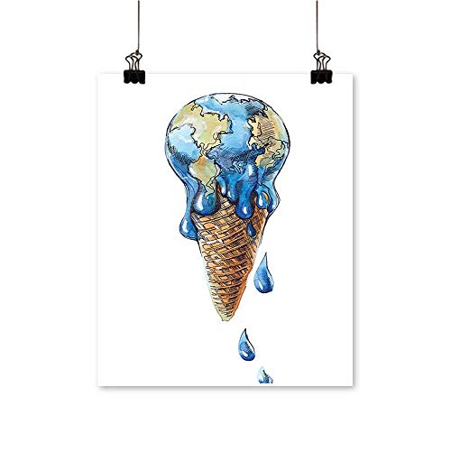 (Wall Decor Ice Cream Globe Planet h Flavor Ecological Graphic Light Caramel Wall Art for Bedroom Home,12