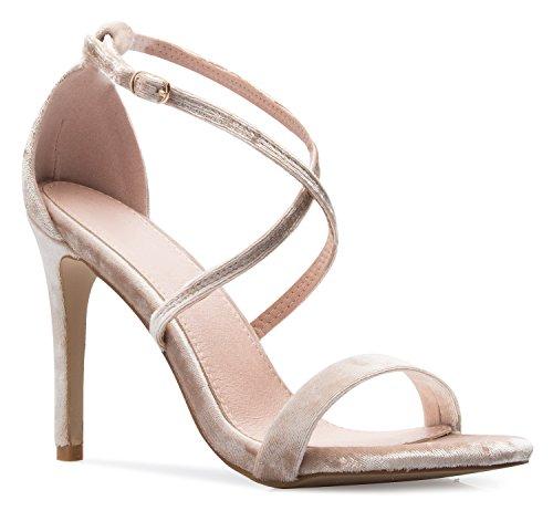 OLIVIA Elegant K Women's Elegant OLIVIA Cross Strap High Heel Sandals - Wedding, Dress, Comfort, Sexy B072LR8NHN Shoes 45fa3b