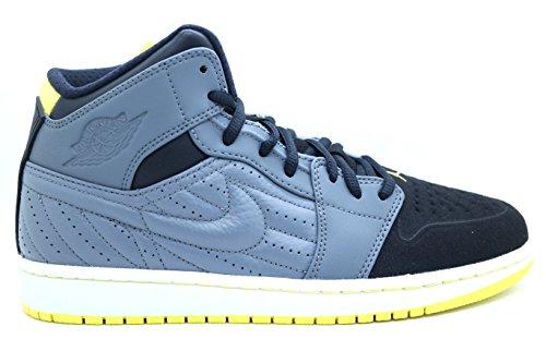 [654140-032] AIR Jordan AIR Jordan 1 Retro 99 Mens Sneakers AIR JORDANCOOL Grey VBRNT Yellow Black White (Air Jordan 1 Retro 99)