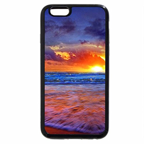 iPhone 6S Case, iPhone 6 Case (Black & White) - Sunset Over The Islands