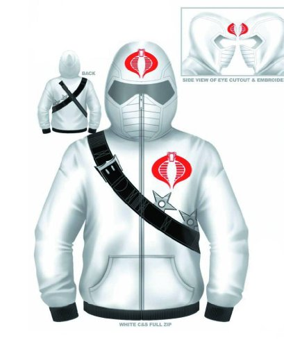 Storm Shadow Adult Costumes (G.I. Joe The Rise of Cobra I Am Storm Adult White Hooded Costume Sweatshirt Hoodie (Adult XX-Large))