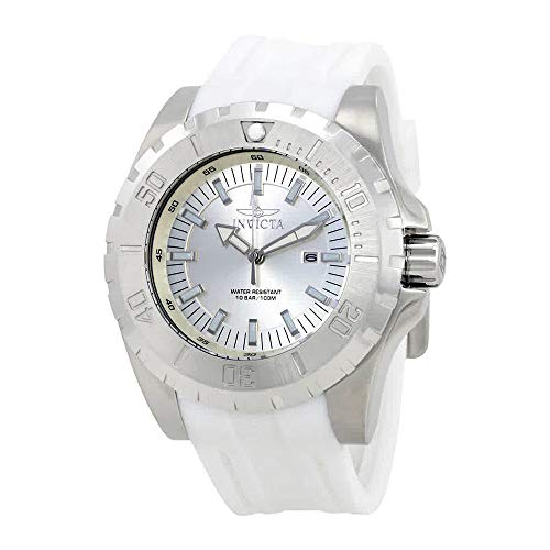 Invicta Men's 'Pro Diver' Quartz Stainless Steel and Polyurethane Casual Watch, Color:White (Model: 23739) ()