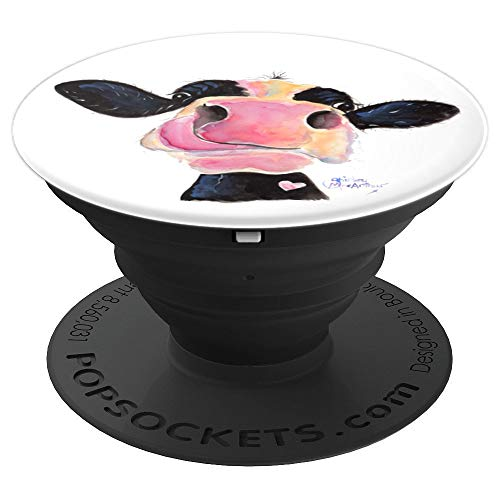 CoW PRiNT, ANiMaL PRiNT PoPSoCKeTS ' JaMMie JeSSie ' - PopSockets Grip and Stand for Phones and Tablets by SHiRLeY MacARTHuR