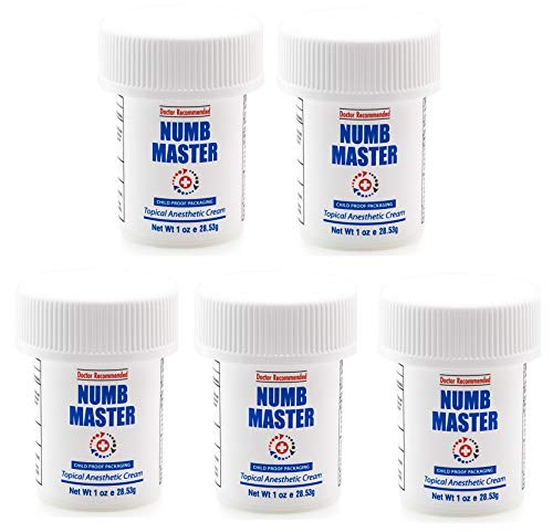 (5-Pack) Clinical Resolution Laboratory, Inc. Numb Master 5% Topical Anesthetic Lidocaine Cream Child Resistant Cap