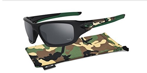 Oakley Mens Valve Sunglasses One Size Matte Black/Black Iridium Polarized