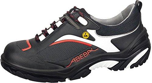 """Abeba 34502-48 tamaño 48 """"ESD-Crawler"""" - zapatos bajos de seguridad negro/rojo"""