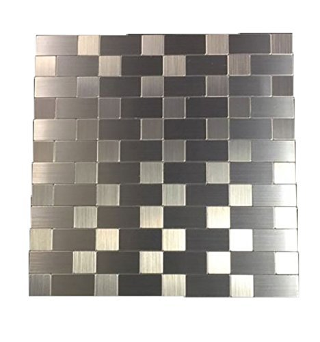 Steel Mosaic Tile - ONE 12 x 12 Peel