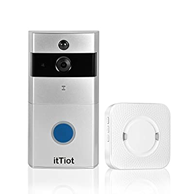 itTiot Video Doorbell, Smart Doorbell with Ding Dong/Chime and 8GB Memory Card,Two-Way Talk and Night Vision,Compatible with IOS and Android by itTiot