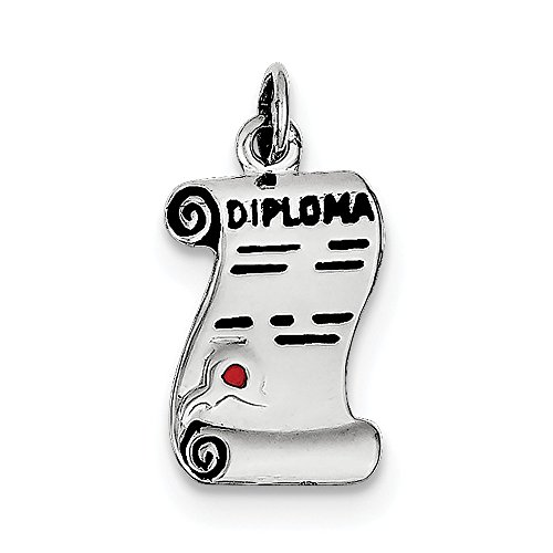 Jewelry Adviser Charms Sterling Silver Diploma Polished Charm