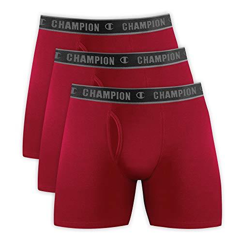 Kit 3 cuecas Cotton, Champion, Masculino, Vermelho, G