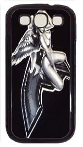 Samsung Galaxy S3 I9300 pc black, Thin Flexible Plastic Case Samsung Galaxy S3 I9300 pc black---lady