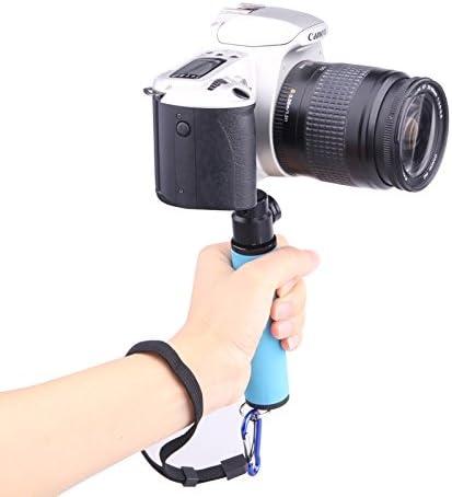 Orange Chenyouwen Camera Accessories Professional LED Flash Light Holder Sponge Steadicam Handheld Monopod with Gimbal for SLR Camera Color : Orange