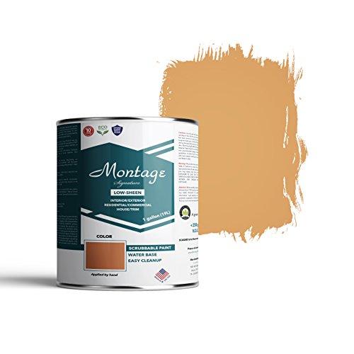 - Montage Signature Interior/Exterior Eco-Friendly Paint, Terracotta - Low Sheen, 1 Gallon