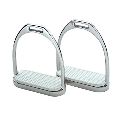 Horse Saddle English Stirrups FILLIS Irons for Jump Dressage White 51117WH