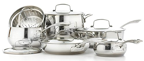 Belgique Stainless Steel Cookware, 11 Piece Set