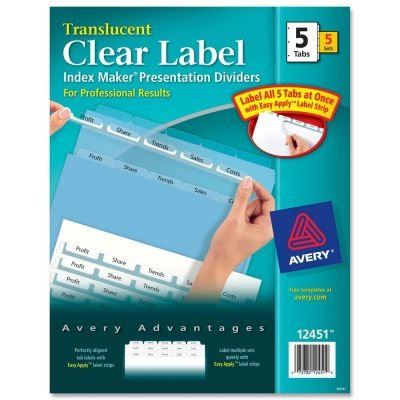 - AVE12451 - Avery Index Maker Clear Label Punched Dividers