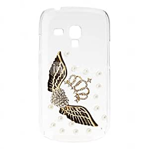 Crown Pattern Hard Case with Rhinestone for Samsung Galaxy S3 mini I8190