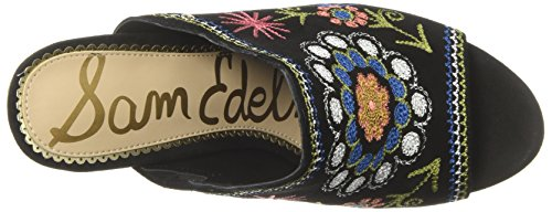 choice Sam Edelman Women's Olive Heeled Sandal Black/Black Multi Embroidery Diva Suede Leather discount store shop for nKkptKRm