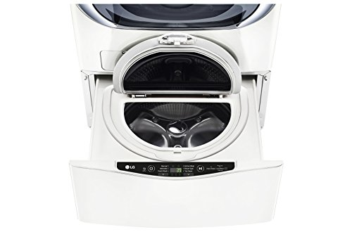 LG WD200CW 1.0-Cubic Foot Sidekick Pedestal Washer, Twin Wash Compatible in White - Lg Washer And Dryer Pedestals