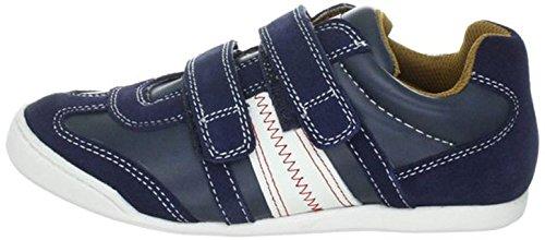 Indigo Sneaker Halbschuhe Leder blau Unisex