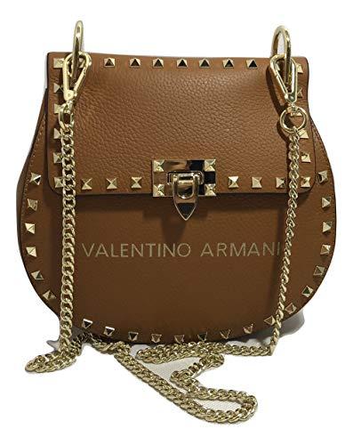 VALENTINO ARMANI Italian Fashion Designer. Luxury Brand. Shoulder Crossbody Calf Leather ()