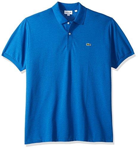 Lacoste Men's Short Sleeve Pique Classic Fit Chine Polo Shirt, L1264, Saurel Chine, 2 (Lacoste Mens Polo Pique)