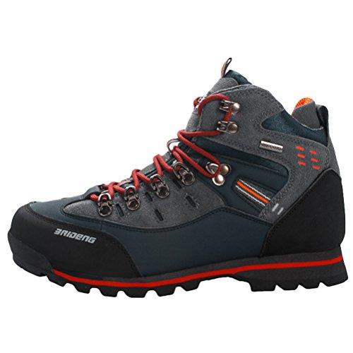 MatchLife Herren Hoch-Spitze Hiking Sports Schuhen Style7 Dunkel Blau EU44/CH45