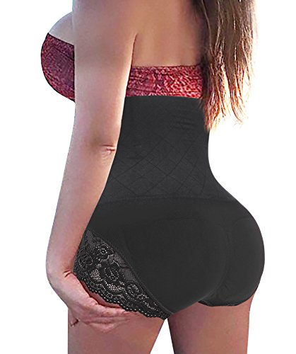 Gotoly Invisable Strapless Body Shaper High Waist Tummy Control Butt Lifter Panty Slim (XL/2XL, Black(Super Comfy))