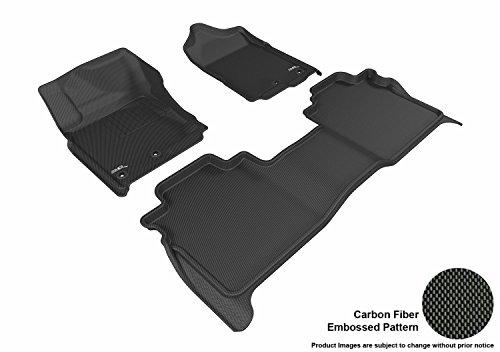 3D MAXpider L1NS08501509 Black All-Weather Floor Mat for Select Nissan Titan Crew Cab Models Complete Set (Floor Mats For Nissan Titan)