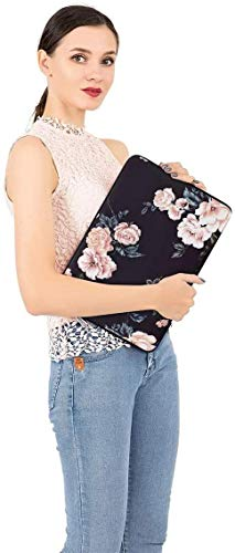 MOSISO Water Repellent Neoprene Sleeve Bag Cover with Small Case 13-13.3 Inch Multicoloured MO-13-Neo-Sleeve-BKPeony