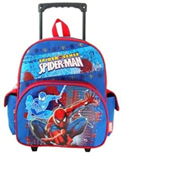 Amazon.com | SpiderMan Small Rolling BackPack - Spider Man Small ...