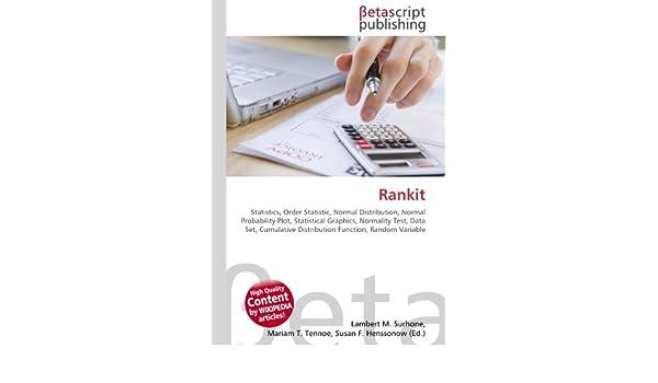 Rankit: Amazon.es: Surhone, Lambert M., Timpledon, Miriam T., Marseken, Susan F.: Libros en idiomas extranjeros