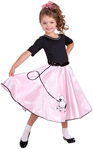 Forum Novelties Pretty Poodle Princess Costume, Child's Small (50s Pink Poodle Girls Costume)