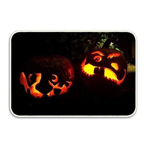 FunnyLife Halloween Pumpkins Indoor/Outdoor Easy Clean Rubber Non Slip Doormat, All Weather Exterior Doors -