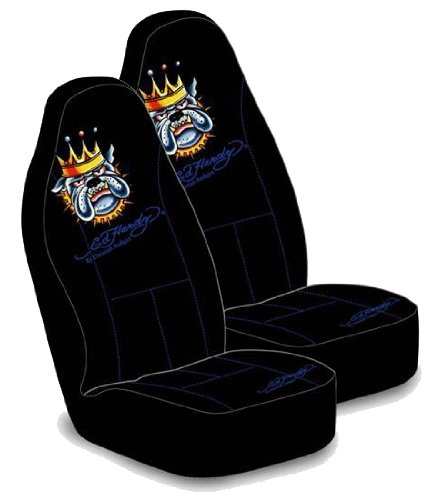 Ed Hardy Bulldog Bucket Seat Covers (Pair)