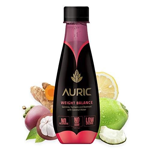 Auric Get Slim Juice For Men & Women (Single Bottle) | Goodness of Super Ayurvedic Herbs – Garcinia Cambogia, Turmeric, Beetroot, Cumin (Jeera) | Aids Digestion