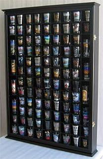 Amazon.com: Large 144 Shot Glass Display Case Holder Cabinet ...