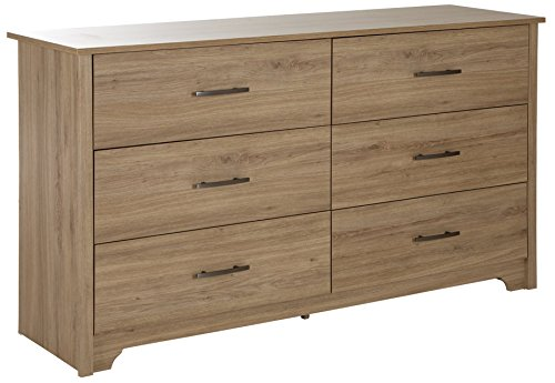 South Shore Fusion 6-Drawer Double Dresser, Rustic Oak