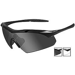 Wiley-X 3501 Wx Vapor Changeable Sunglasses, Smoke Grey