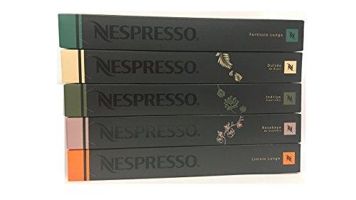 Large Product Image of 50 Nespresso OriginalLine Capsules - Luxury MIXED (New Linizio Lungo, Rosabaya, Dulsao, Indriya, Fortissio Lungo) - ''NOT compatible with Vertuoline''
