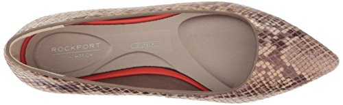 Rockport Women's Total Motion Adelyn Ballet Flat, Brun Fonce Nude Am Lux