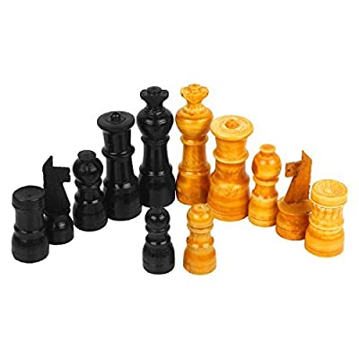 PREM SAGAR Set Of Wooden Chessmen/ Chess pieces hand carved figure / figurine