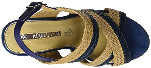 Beige Braided Mujer Sandalias Mare Brush con Plataforma Ganza Azul para Marino Marino Maria xvqY86E8