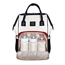LAND Diaper Bag Backpack for Baby Boys and Girls Travel Maternity Nappy Bag for Mom and Dad