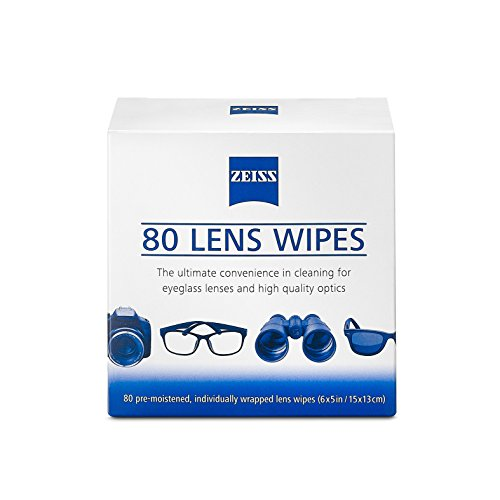 (Zeiss Pre Moistened Lens Cleaning Wipes 80)