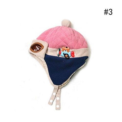 BEST.LIV Baby Girls Boys Hats Winter Warm Cap Hat Beanie Pilot Aviator Crochet Earflap - Flap Liv