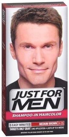 Just for Men Just For Men Shampoo-in Haircolor medio Brown H-35 1 EA - Acquista i pacchetti e SAVE (confezione da 4)